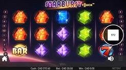 $20 per spin STARBURST pays!