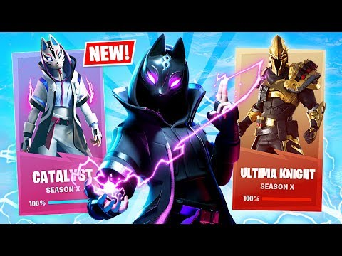 *NEW* SEASON 10 LEVEL 50 SKINS UNLOCK!! (Fortnite Season X New Update)