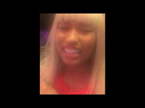 Nicki Minaj Singing Drunk In Studio About P*ssy And A Panda - REAL Voice (No Autotune)