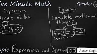 6th Grade Math Expressions and Equations