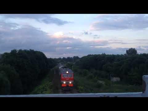 ТЭП70БС-306 с пригородным поездом Иваново-Юрьев-Польский. Перегон Гаврилов-Пасад-Юрьев-Польский.