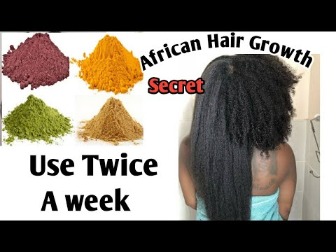 The Secret Behind African Women Hair Growth/chebe powder Rice water,alovera,For massive hair growth