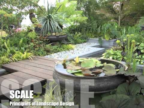 landscaping garden design Principles of Landscape Design - YouTube