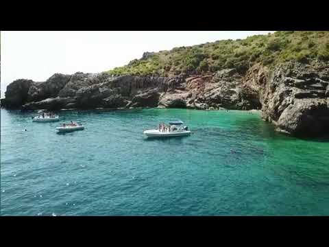 Boating zingaro by drone