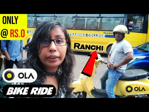 My First OLA Bike Ranchi Experience | How To Book Ola Bike In Ranchi | Free Ola Bike Ride In Ranchi