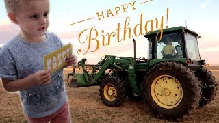 BIRTHDAY PARTY with my Cousin's Tractor
