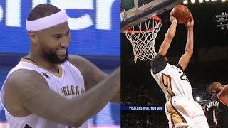 c3fb6281c Anthony Davis Spin Oop From DeMarcus Cousins! Blazers vs Pelicans