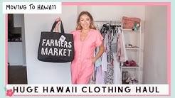 Huge Hawaii Clothing Haul | Moving To Hawaii