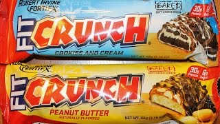 Robert Irvine Fortifx Fit Crunch: Cookies & Cream And Peanut Butter Bar Review