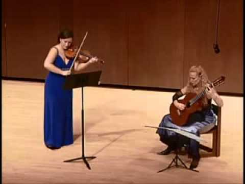 "Yulia Ziskel and Tali Roth perform Paganini's ""Centone di sonate"" M.S. 112"
