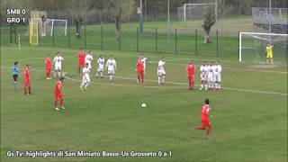 Gs Tv- highlights di San Miniato Basso-Us Grosseto 0 a 1