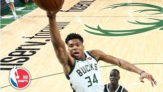 Giannis Antetokounmpo's 24 points leads Bucks to blowout of Pistons | NBA Highlights
