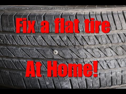 How to Fix a Flat Tire at Home or Office – DIY AUTO REPAIR #3