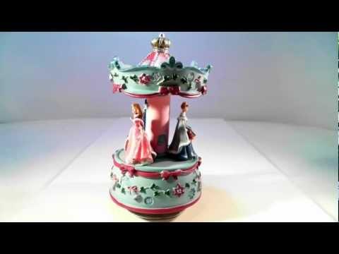 Disney Princess Christmas Music Box Carousel