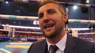CARL FROCH REACTS TO ANTHONY JOSHUA STUNNING 7th ROUND KNOCKOUT OF  POVETKIN, HAS MESSAGE FOR GROVES