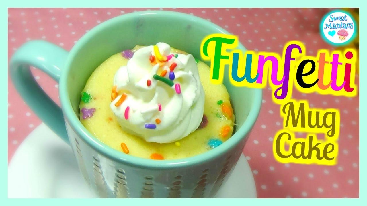 How To Make A Microwave Funfetti Mug Cake| Sweet Maniacs ...