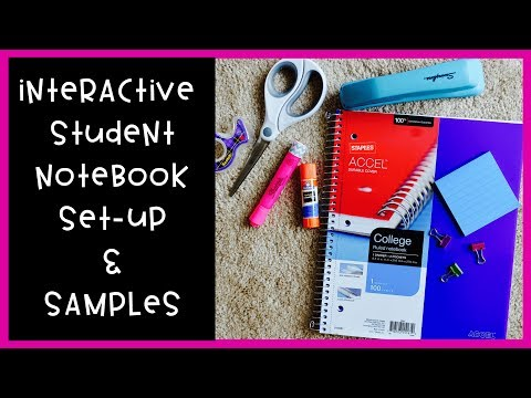 How I Set Up My Interactive Student Notebook | Setup, Sample