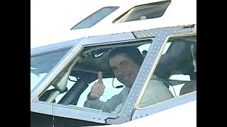 Up close and LOUD: John Travolta's Boeing 707 Jett Clipper Ella departs LAX