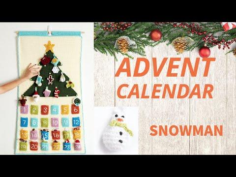 How To Crochet A Snowman Ornament Advent Calendar Youtube