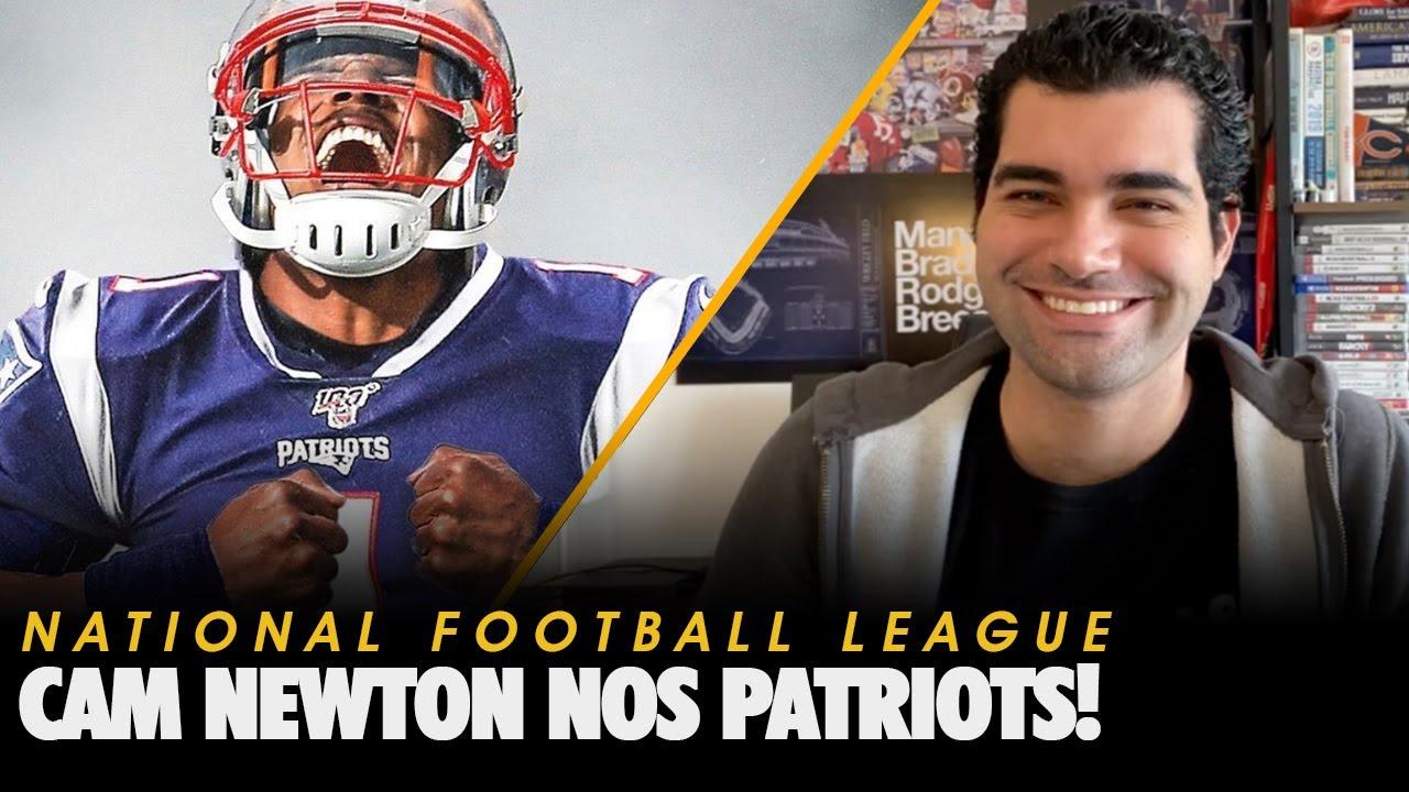 Cam Newton nos Patriots!