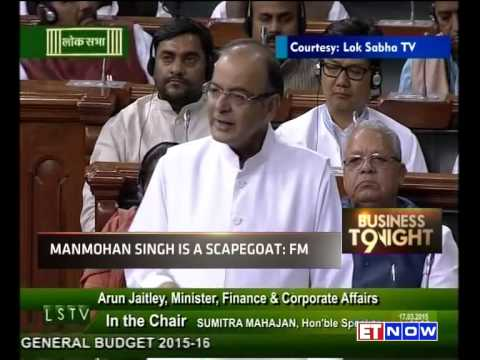 Arun Jaitley Defends Manmohan Singh | Says He Is A Scapegoat