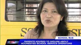 Advice to parents: Choose school bus service wisely