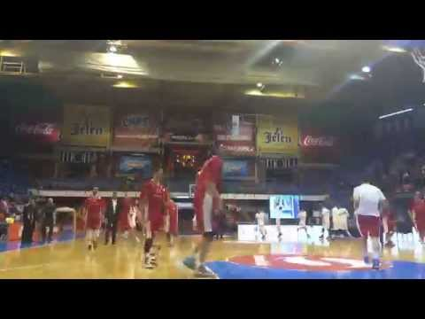 BC Red Star Telecom Belgrade Warm Up Time Lapsed