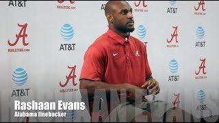 Alabama LB Rashaan Evans on Miss State win, Mercer game
