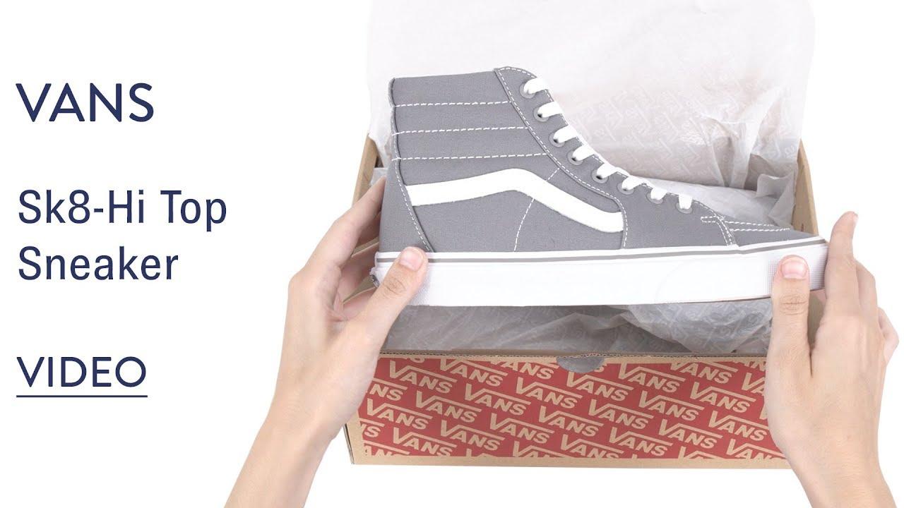 Vans Sk8 Hi Top Sneaker Size 35 M Desert Taupe CanvasTrue White
