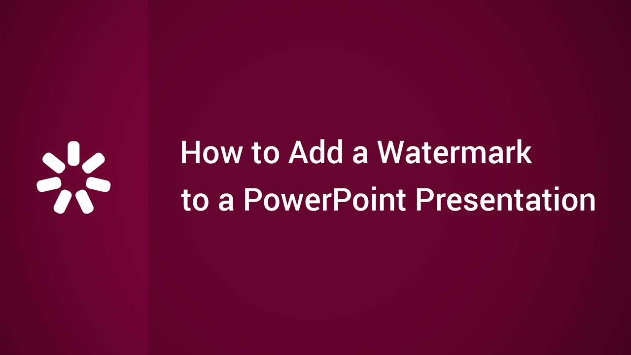 how to get rid of watermark in werpoint