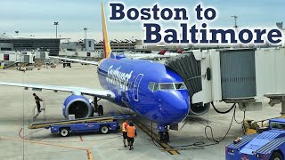 Full Flight: Southwest Airlines B737-700 Boston to Baltimore (BOS-BWI)