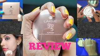 Lakme 9 to 5 flawless matte complexion compact Review| Lakme compact powder| powder for oily skin