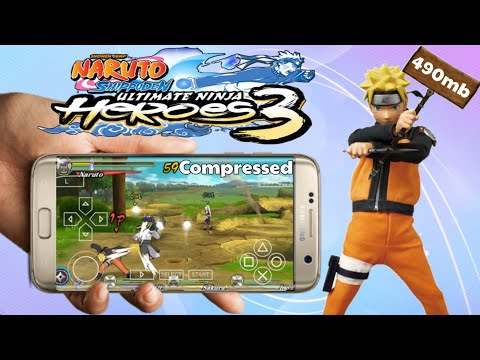 Naruto Shippuden Ultimate Ninja Heroes3 Compressed Psp Iso Game Android Best Settings Gameplay Hindi