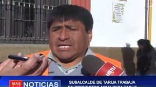 Sub alcalde de Tarija trabaja en proyectos de agua para Tarija