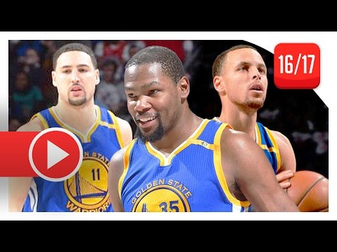 kevin-durant,-stephen-curry-&-klay-thompson-full-highlights-vs-sixers-(2017.02.27)---too-good!
