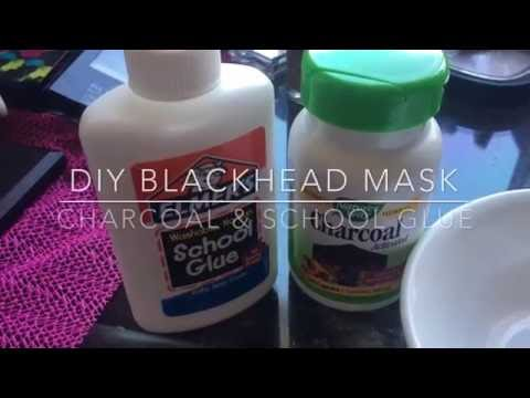 Homemade charcoal peel off mask with glue