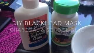 Beauty On A Budget | DIY Blackhead Mask w/Charcoal & School Glue | MakeupByMaura