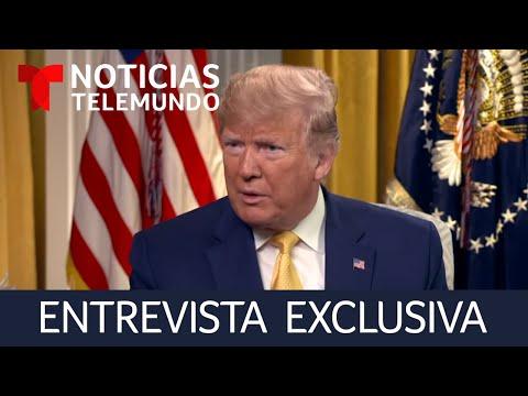 Trump rompe el silencio. Noticias Telemundo entrevista en exclusiva al presidente de Estados Unidos