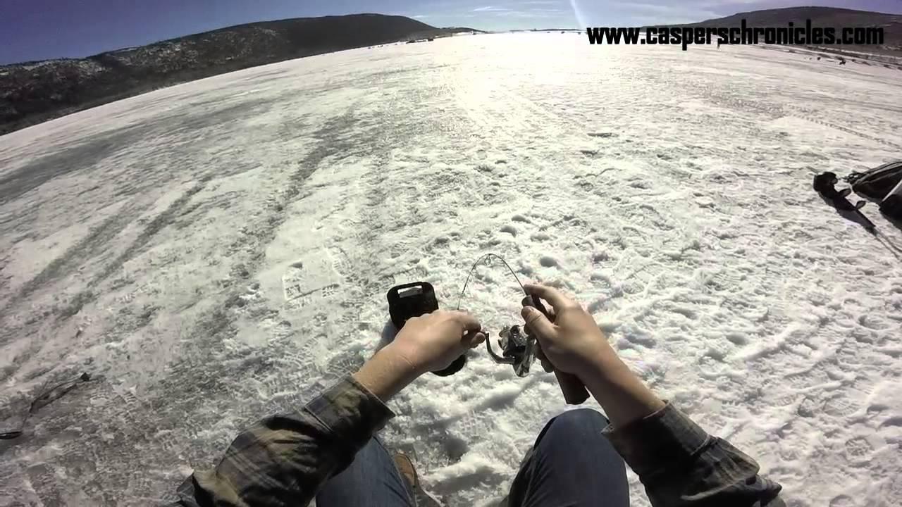 Fish lake ut ice fishing 2 13 15 youtube for Utah fishing regulations
