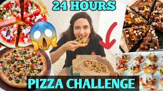 I Ate Only PIZZA For 24 Hours Challenge🍕 Fun Food Experiments 😜