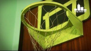 DIY wooden basketball hoop for the door