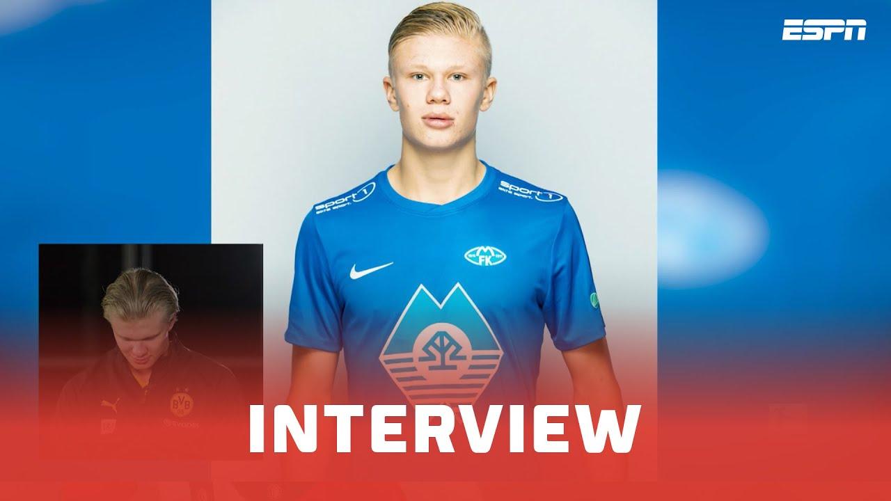 Erling Haaland kwam 20 kilo aan in Noorwegen | Interview | Bundesliga - ESPN NL