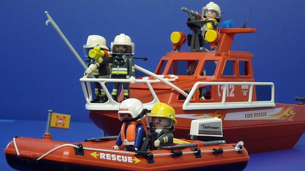 playmobil feuerwehr feuer auf dem piratenschiff youtube. Black Bedroom Furniture Sets. Home Design Ideas