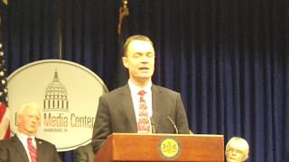 Champion of liberty Simon Campbell speaks at OWI press conference on Jan. 22, 2013
