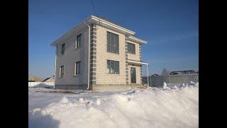 Обзор дома 120м2, керамзитоблок с кирпичем. Строительство домов в Тюмени.