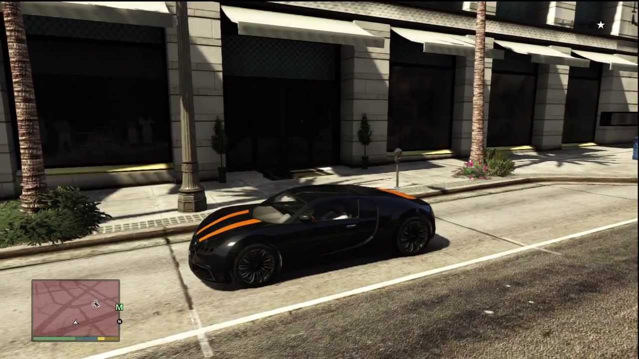 fr emplacement location bugatti veyron truffade adder in gta v youtube. Black Bedroom Furniture Sets. Home Design Ideas