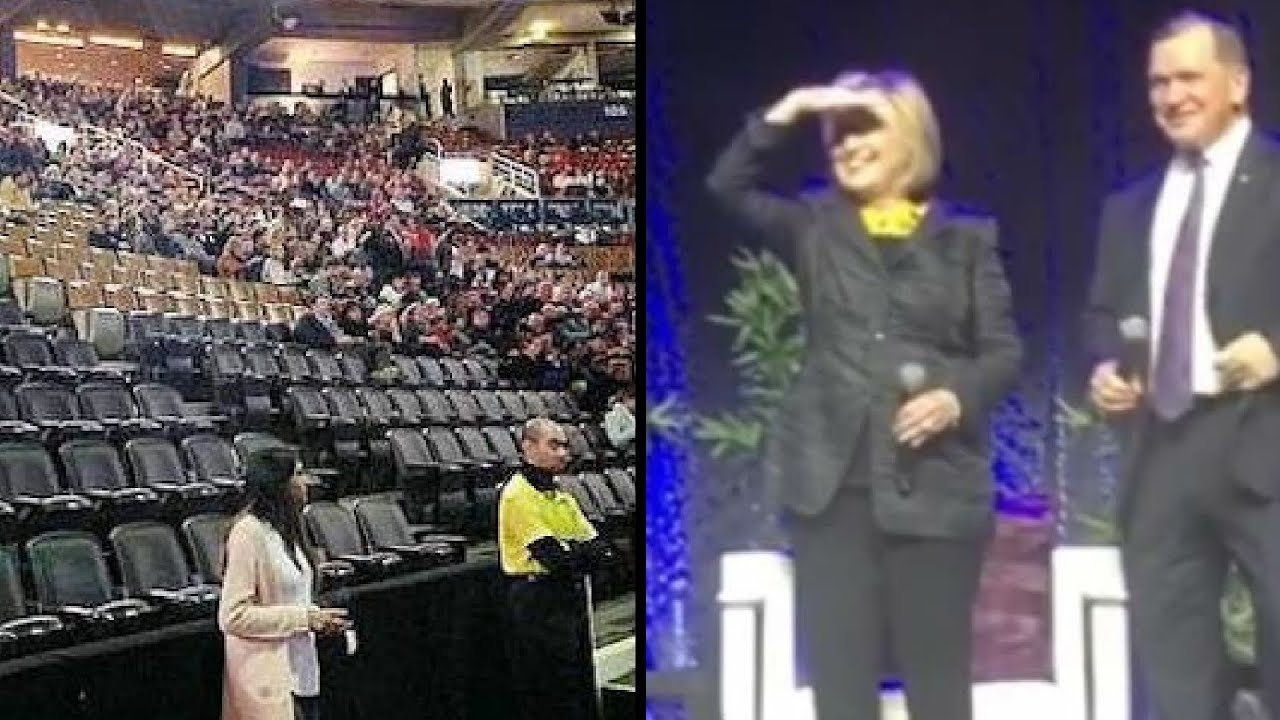 Clintons Score 84% Empty Crowd on Opening Night of Speaking Tour