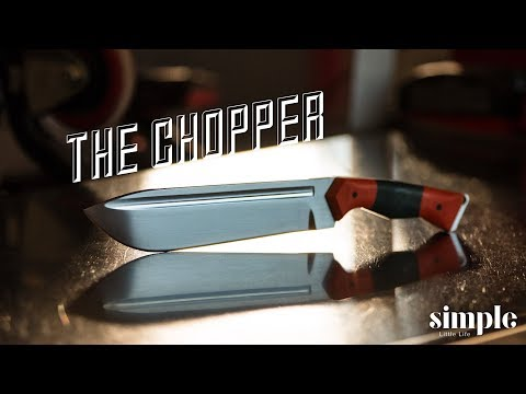I didn't want to make this knife - Chopper build part 3 - an excellent lesson learned.