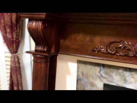 The Atlanta Mantel (Cherry Wood with rich cherry stain)