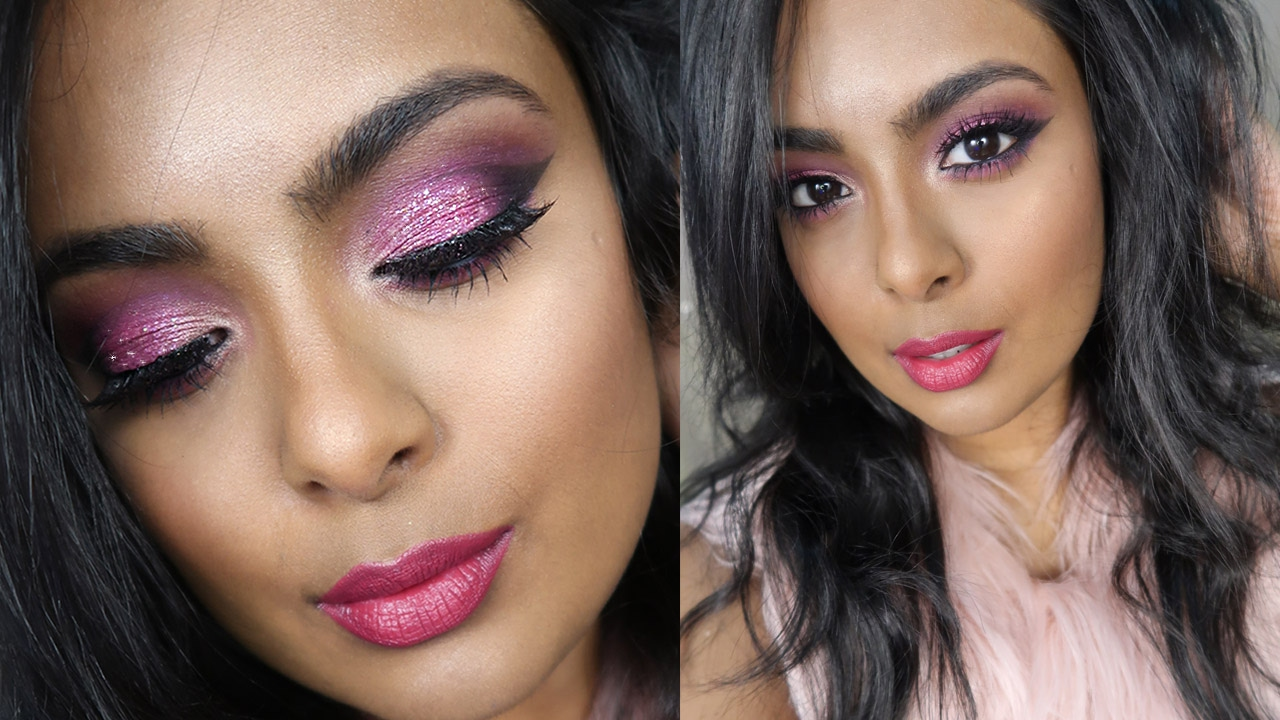 Valentine S Day Sparkly Pink Makeup Sexy Glamorous Date